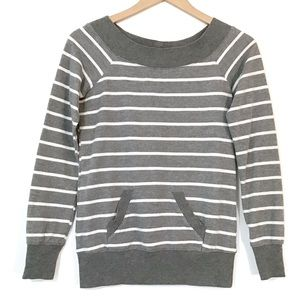 One Clothing - Striped Top With Back Zipper Detail